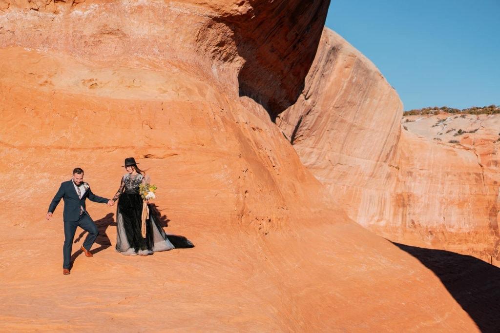 Moab adventure wedding