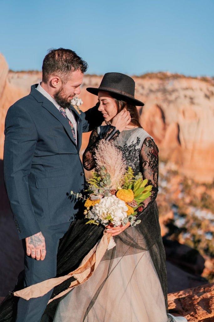 romantic elopement photography in Moab, UT