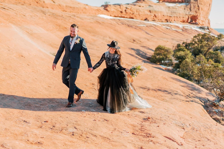 desert elopement in Moab, Utah