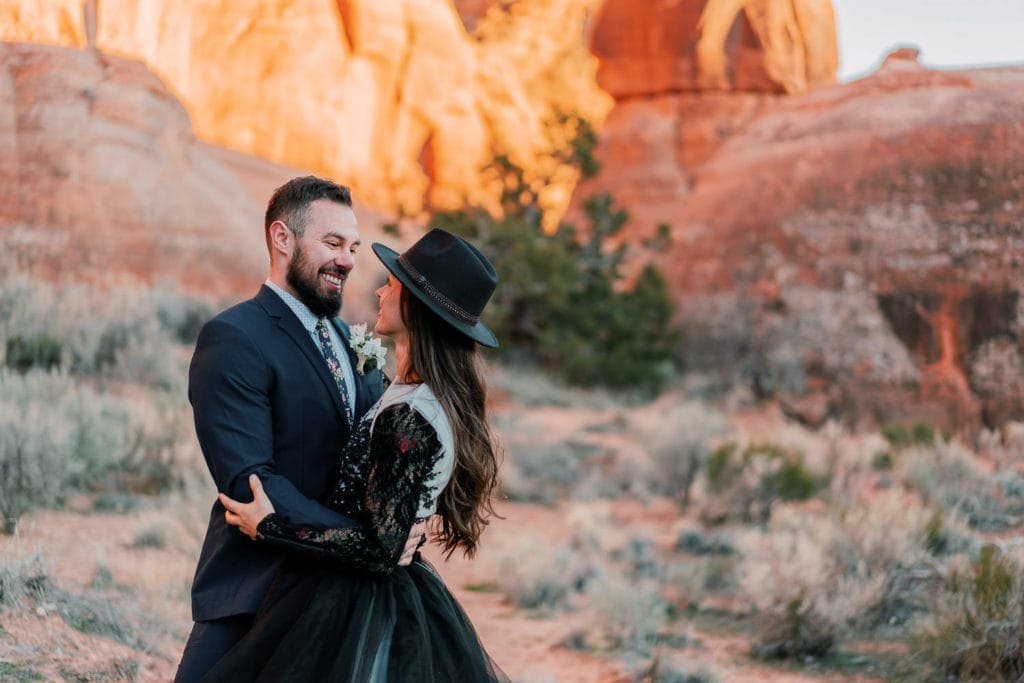 Utah elopement photography in Moab