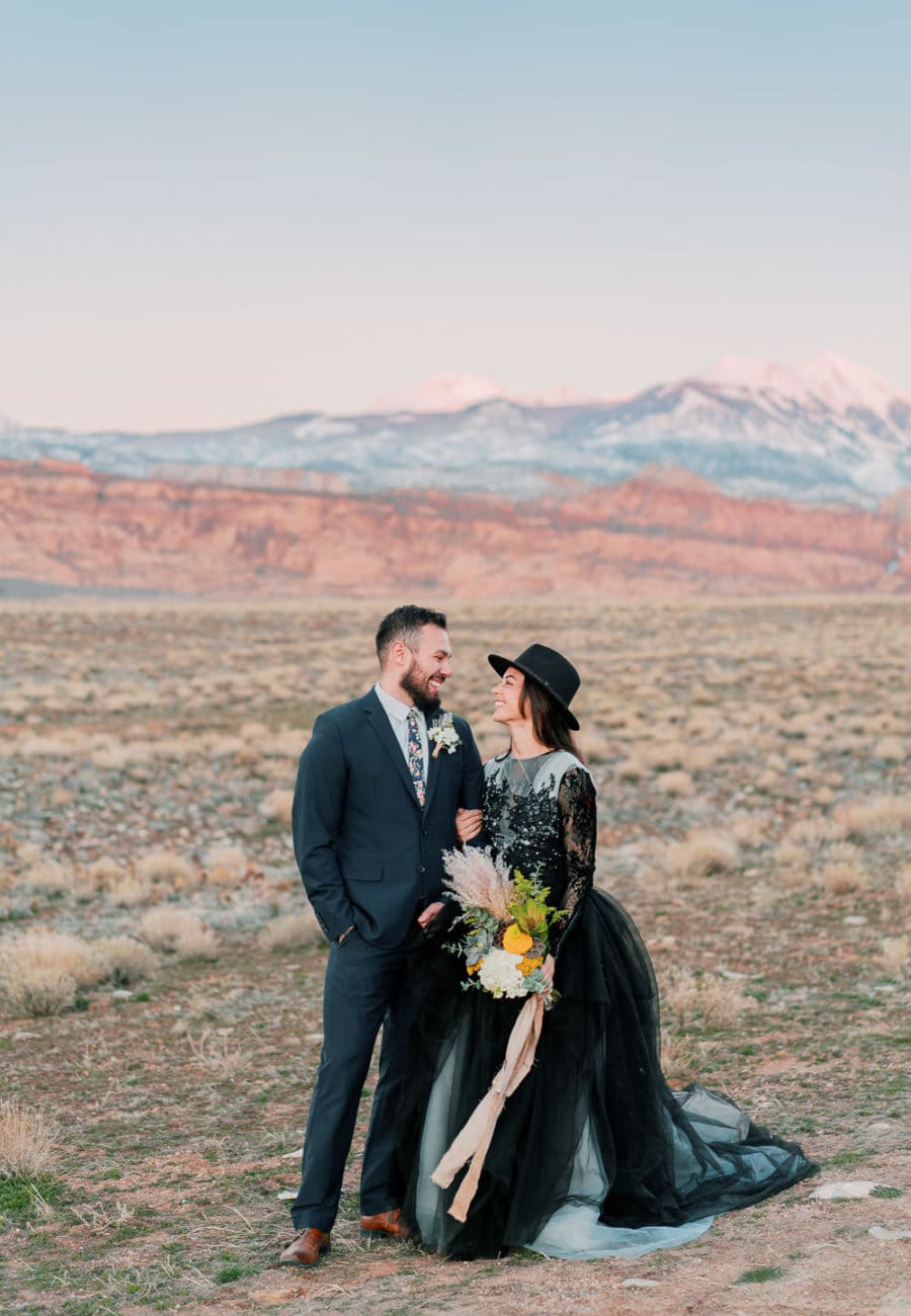 Moab elopement with the Manti-La Sal