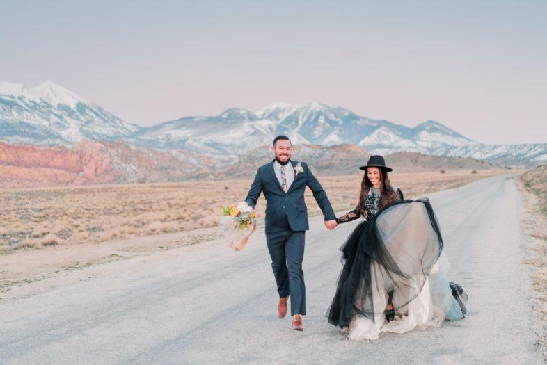 fun elopement photography in Moab, Utah