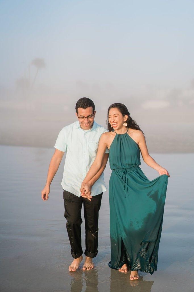 fun at an elopement on Daytona Beach in Florida