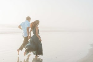 engagement photos at the beach in Daytona, Florida