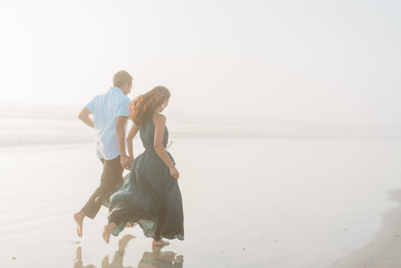 engagement photos at the beach in Daytona, Florida