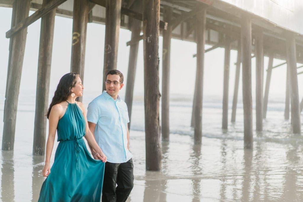 Daytona Beach, Florida engagement session at sunrise