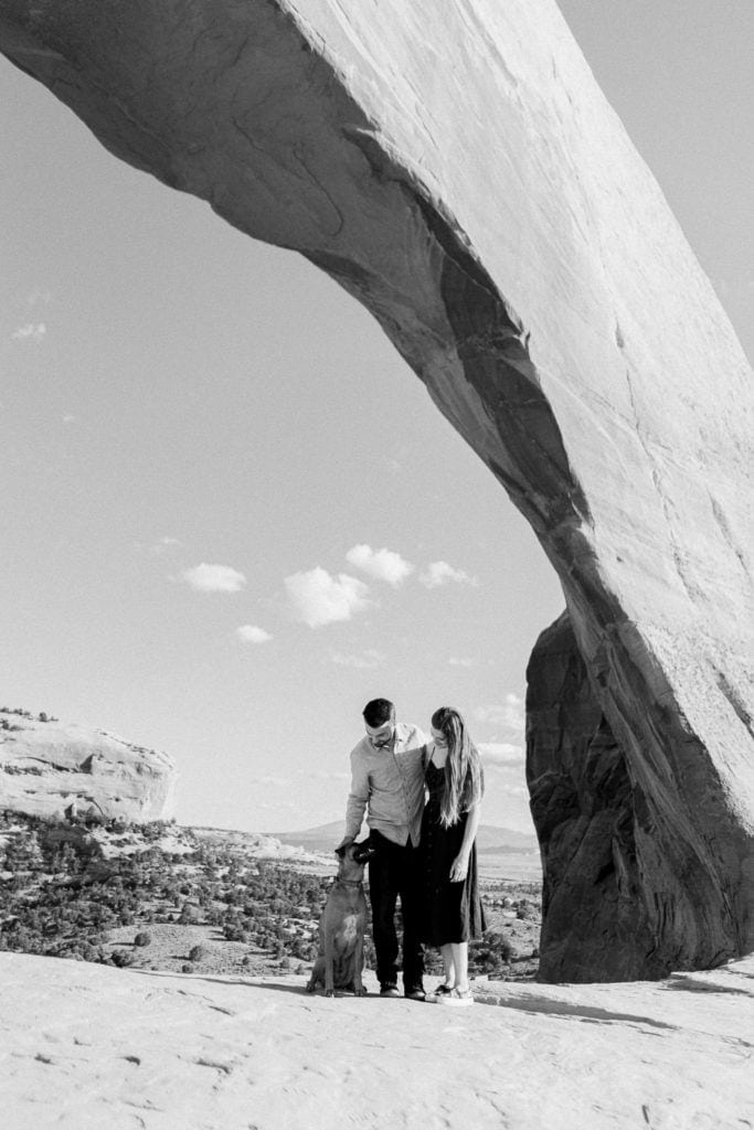 black and white photography in Moab