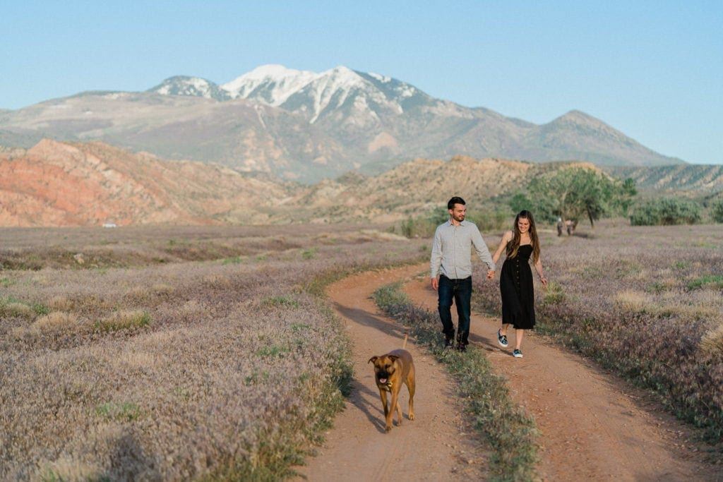 Manti-La Sal mountains engagement session in Moab