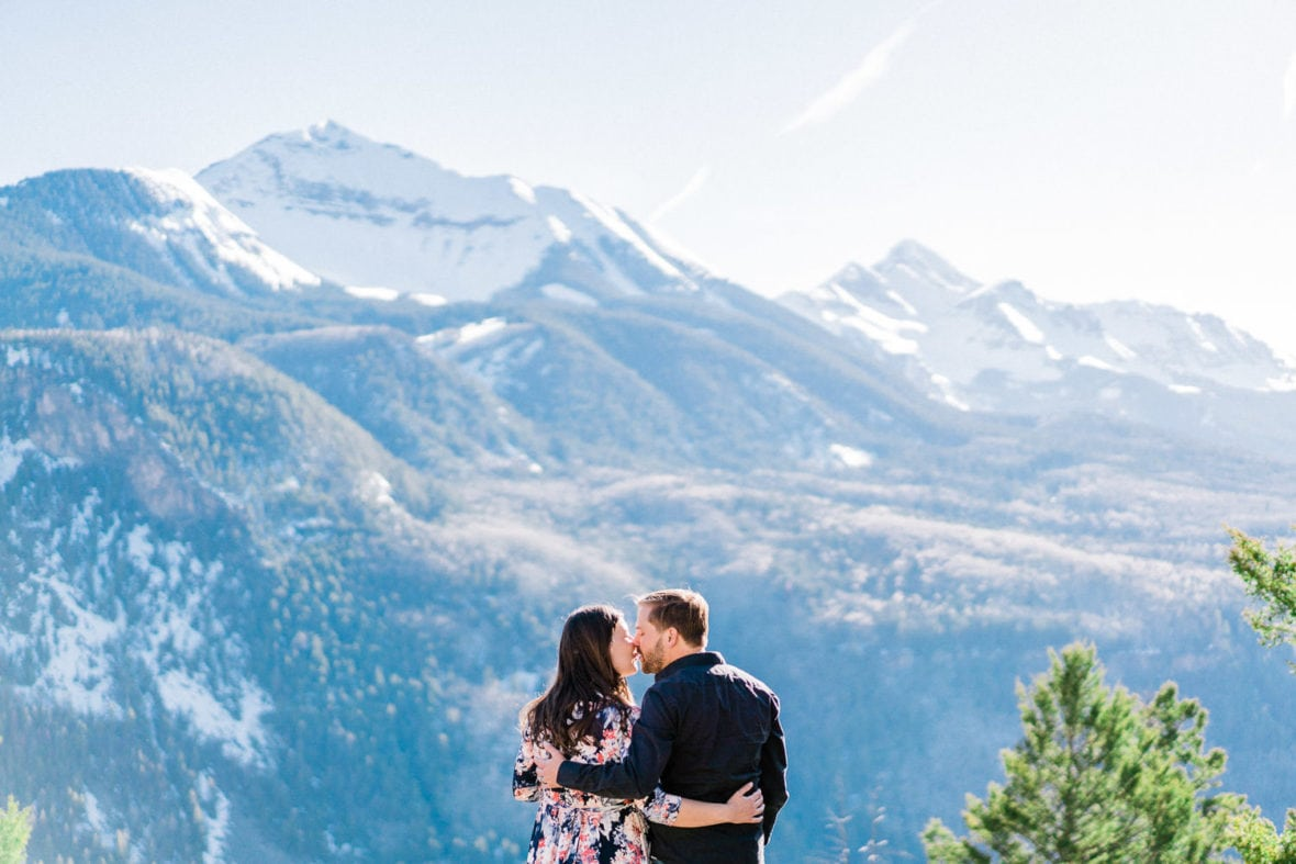 romantic couples photography in Telluride, CO during a maternity session