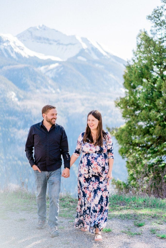 Telluride maternity photography in the San Juan Mountains