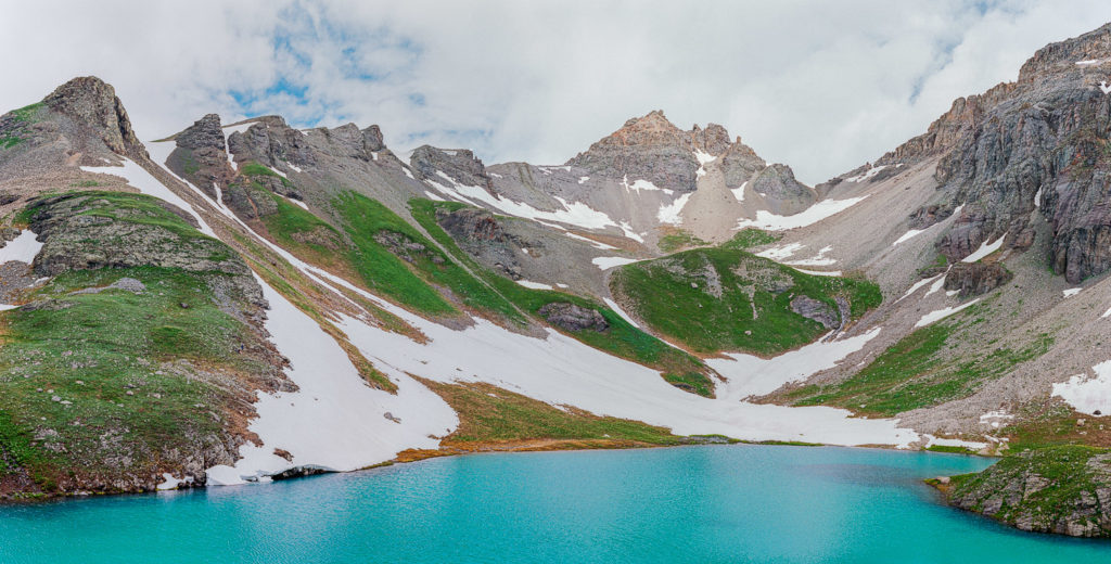 blue alpine lake in Colorado
