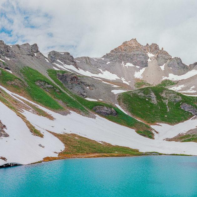 blue alpine lake in Colorado