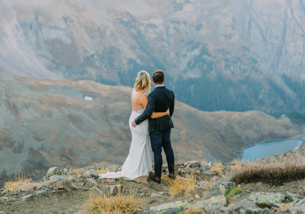 Glacier National Park elopement in the mountains.