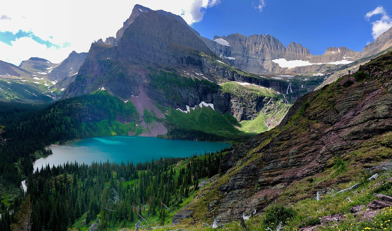 Grinnell Lake in Many Glacier in Glacier National Park.
