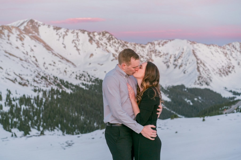 elopement in Breckenridge, Colorado at Alpenglow at Loveland Pass