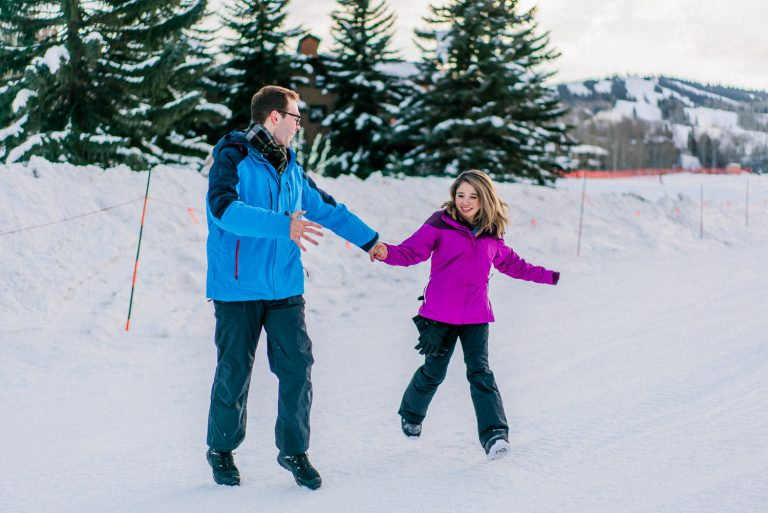 Winter Proposal Photography in Snowmass Village, Colorado