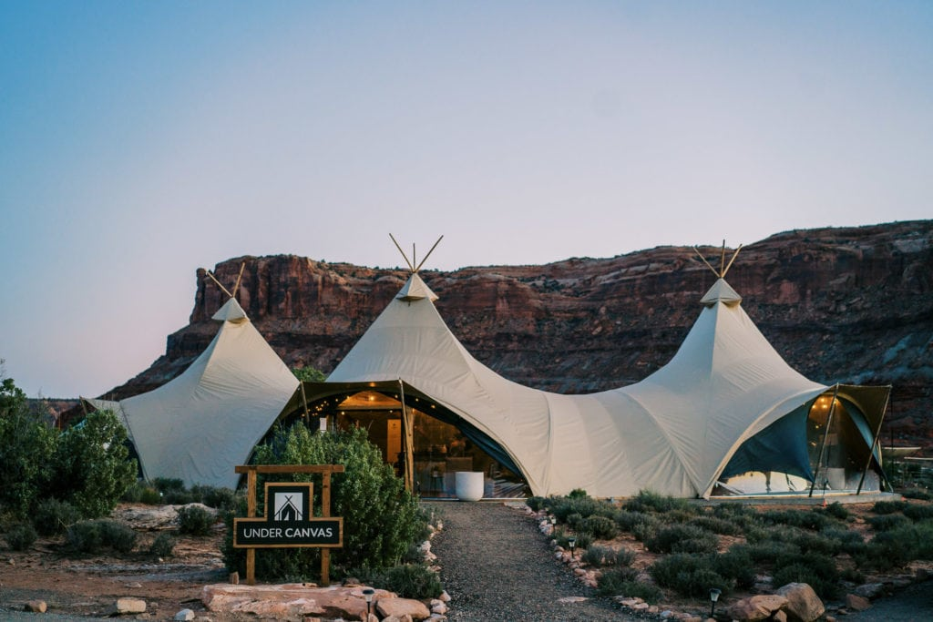 Under Canvas in Moab, Utah. The best places to stay in Moab.