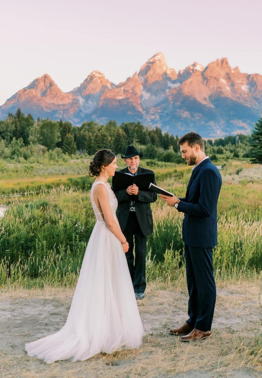 Sunrise Elopement in Grand Teton National Park