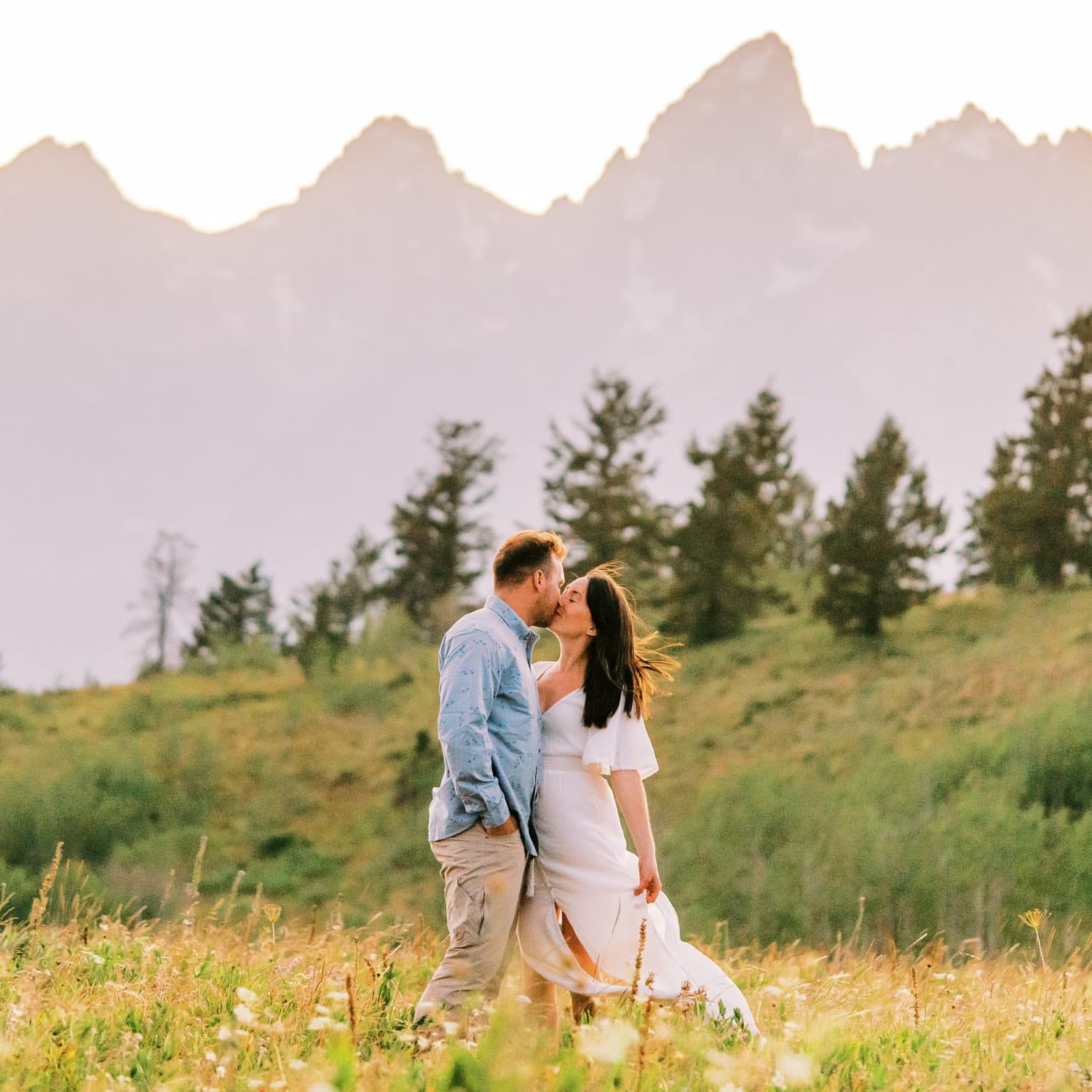 Hiking Elopement in Wyoming in the Grand Tetons