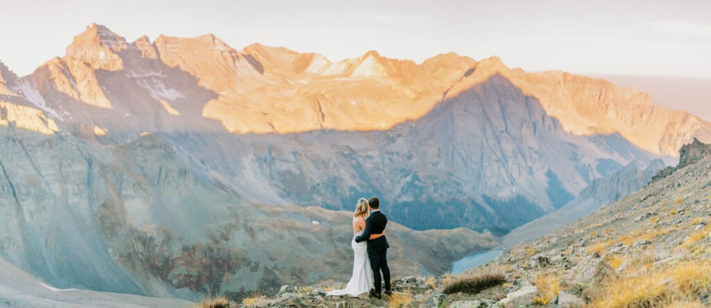 Ouray, Colorado mountain top elopement
