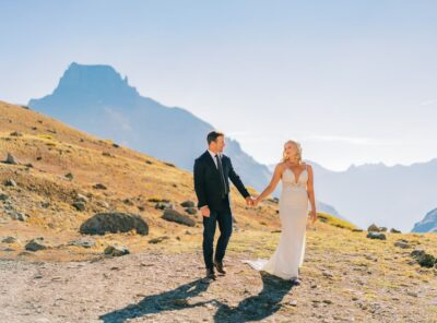 Ouray, Colorado Hiking & Jeeping Elopement at Sunrise