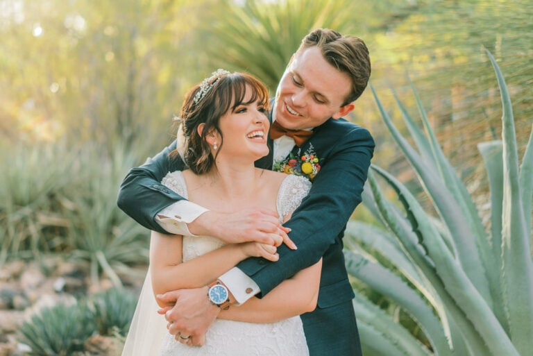 Small Wedding at Tucson Botanical Gardens in Arizona
