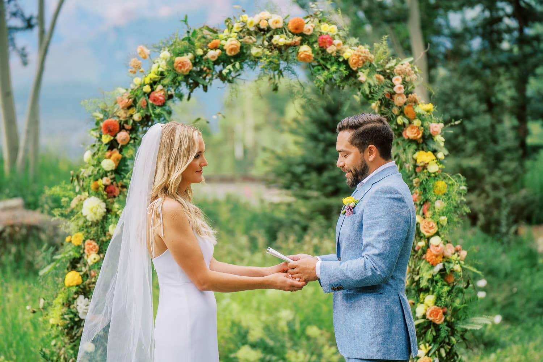 Small backyard wedding in Telluride, Colorado.